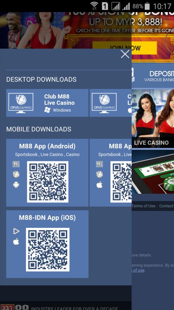 Cách đăng ký tài khoản M88 trên điện thoại 5