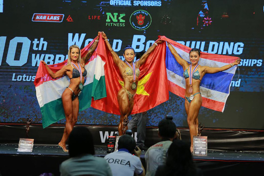 Đội tuyển thể hình Việt Nam giành 3 HCV thế giới 1