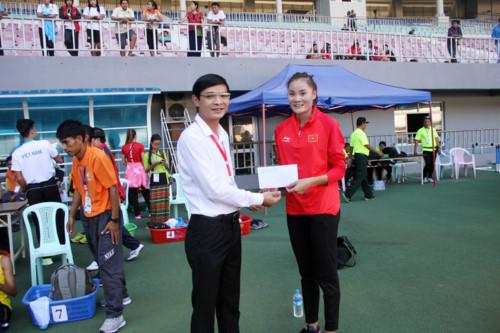 Quách Thị Lan giành 3 HCV ở 19th ASEAN University Games. 4