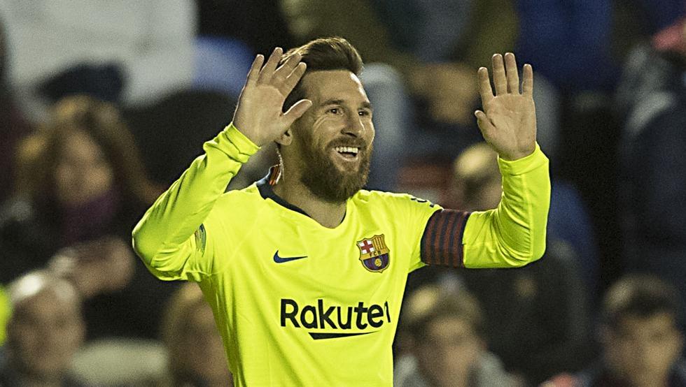 Video tổng hợp bàn thắng - Messi lập hat-trick trong ngày Barcelona vùi dập Levante 1