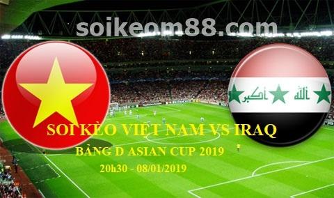Soi kèo trận Việt Nam vs Iraq 20h30 ngày 08/01/2018, Bảng D Asian Cup 2019 1