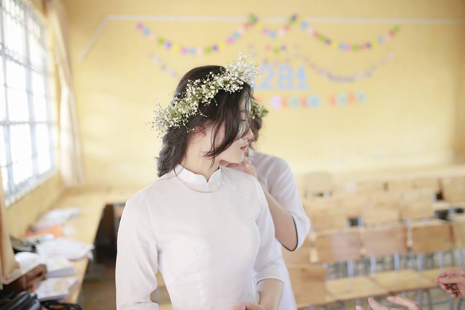 Gái xinh mặc áo dài trắng đẹp dịu dàng duyên dáng Việt Nam 13