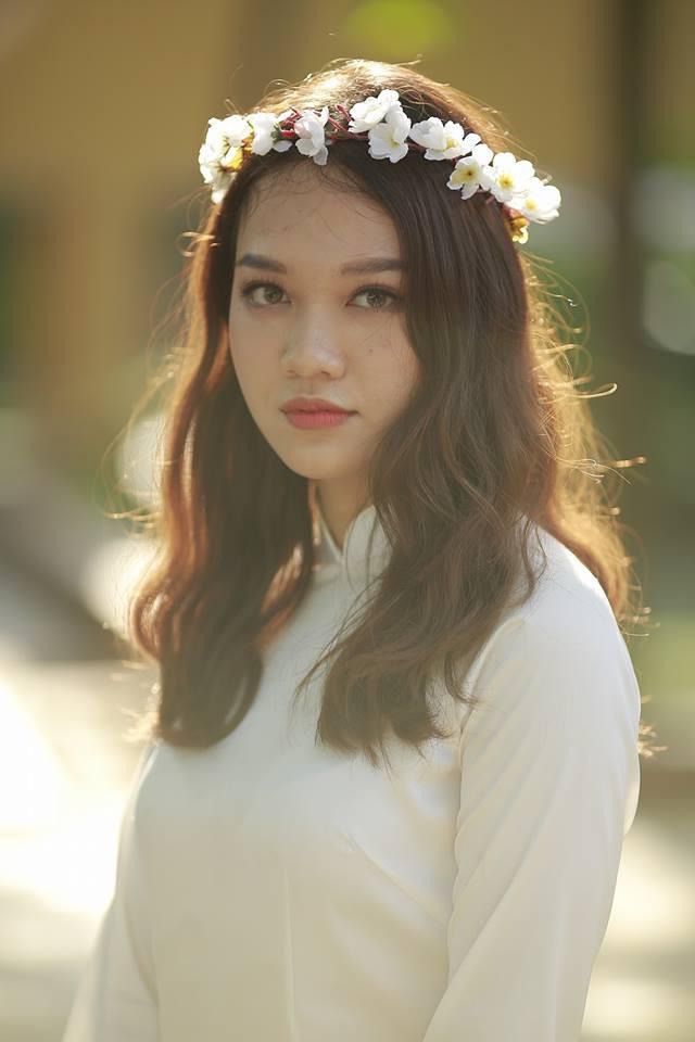 Gái xinh mặc áo dài trắng đẹp dịu dàng duyên dáng Việt Nam 14
