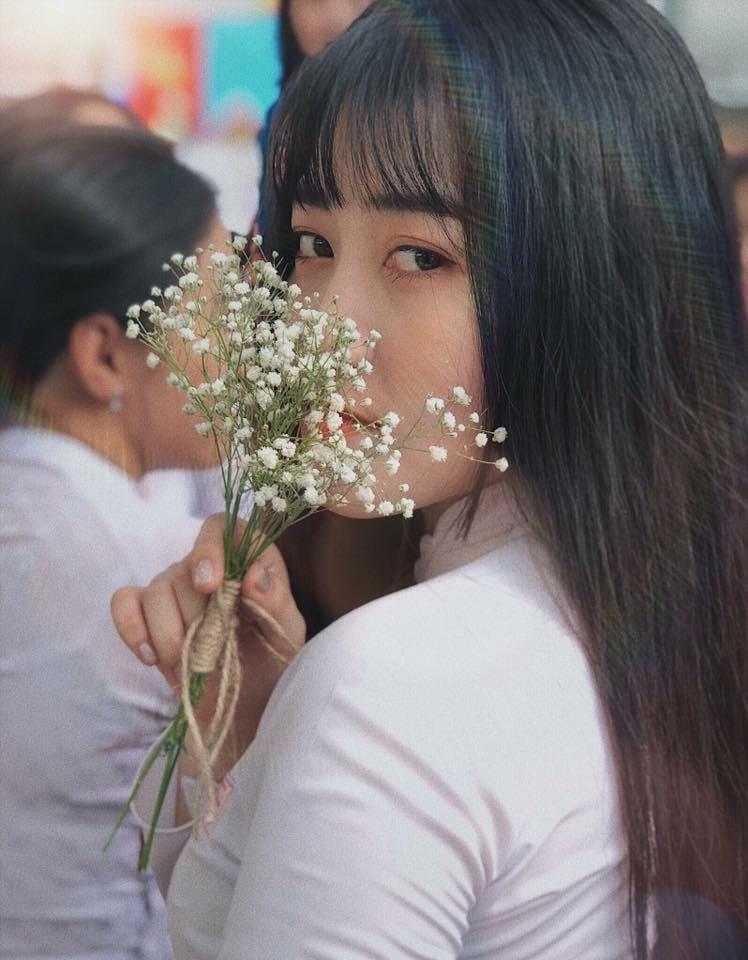 Gái xinh mặc áo dài trắng đẹp dịu dàng duyên dáng Việt Nam 15
