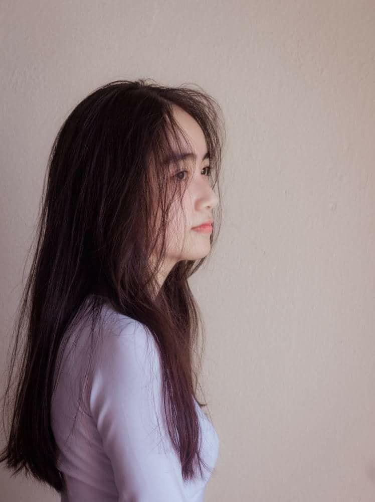 Gái xinh mặc áo dài trắng đẹp dịu dàng duyên dáng Việt Nam 19