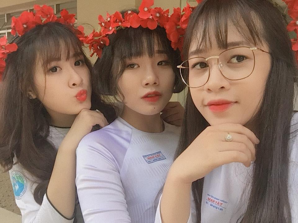 Gái xinh mặc áo dài trắng đẹp dịu dàng duyên dáng Việt Nam 21