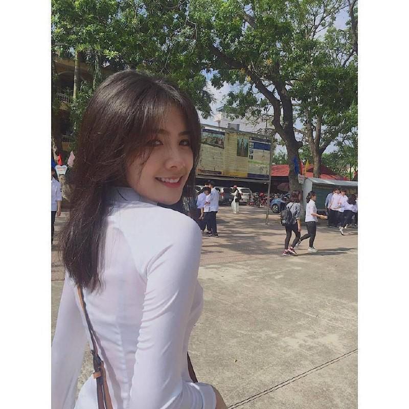 Gái xinh mặc áo dài trắng đẹp dịu dàng duyên dáng Việt Nam 31