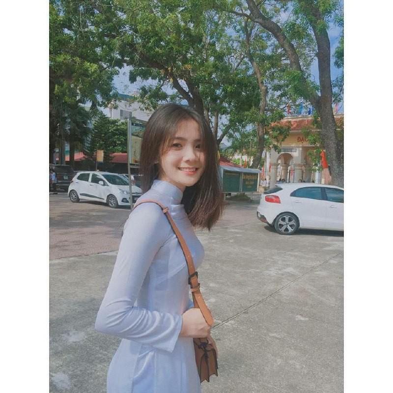 Gái xinh mặc áo dài trắng đẹp dịu dàng duyên dáng Việt Nam 5