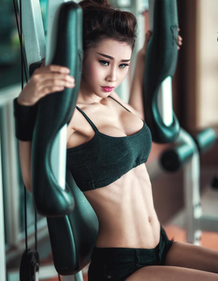 gái xinh tập gym 1