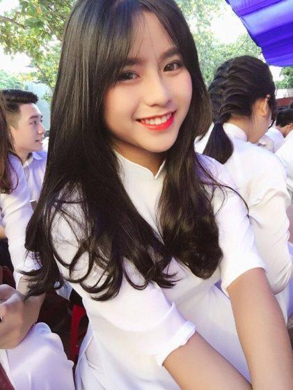 Hình nền gái xinh áo dài, ảnh gái đẹp hot girl dễ thương 14
