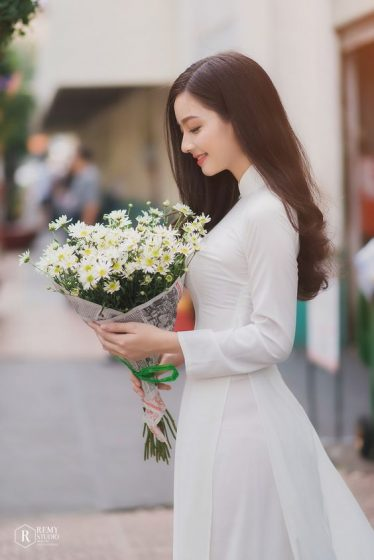 Hình nền gái xinh áo dài, ảnh gái đẹp hot girl dễ thương 16