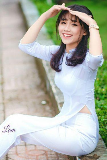 Hình nền gái xinh áo dài, ảnh gái đẹp hot girl dễ thương 20