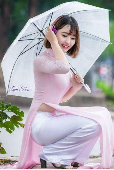 Hình nền gái xinh áo dài, ảnh gái đẹp hot girl dễ thương 21
