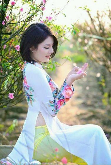 Hình nền gái xinh áo dài, ảnh gái đẹp hot girl dễ thương 25