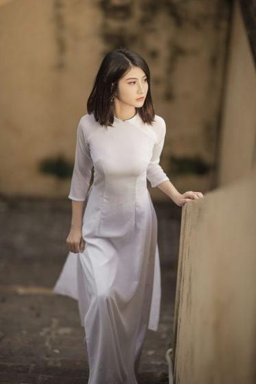 Hình nền gái xinh áo dài, ảnh gái đẹp hot girl dễ thương 26