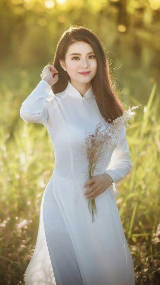 Hình nền gái xinh áo dài, ảnh gái đẹp hot girl dễ thương 28