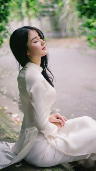 Hình nền gái xinh áo dài, ảnh gái đẹp hot girl dễ thương 31