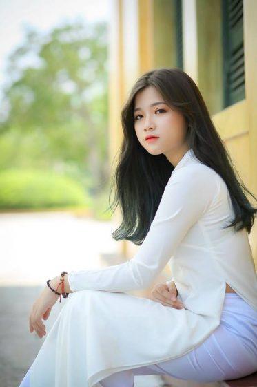 Hình nền gái xinh áo dài, ảnh gái đẹp hot girl dễ thương 33