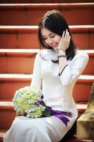 Hình nền gái xinh áo dài, ảnh gái đẹp hot girl dễ thương 34
