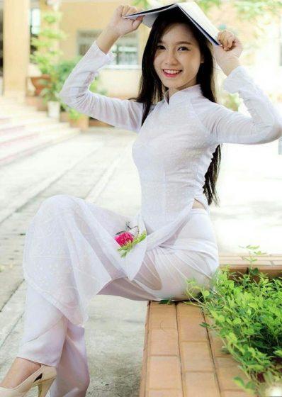 Hình nền gái xinh áo dài, ảnh gái đẹp hot girl dễ thương 35