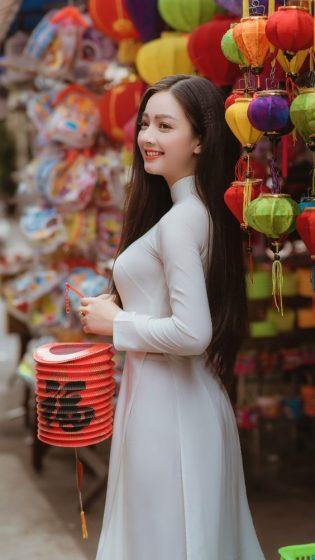 Hình nền gái xinh áo dài, ảnh gái đẹp hot girl dễ thương 37