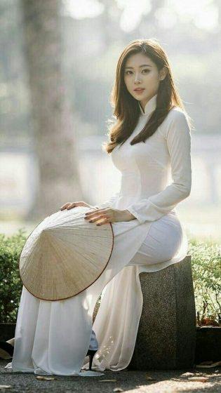 Hình nền gái xinh áo dài, ảnh gái đẹp hot girl dễ thương 4