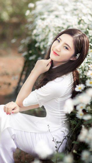 Hình nền gái xinh áo dài, ảnh gái đẹp hot girl dễ thương 5