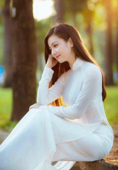 Hình nền gái xinh áo dài, ảnh gái đẹp hot girl dễ thương 6